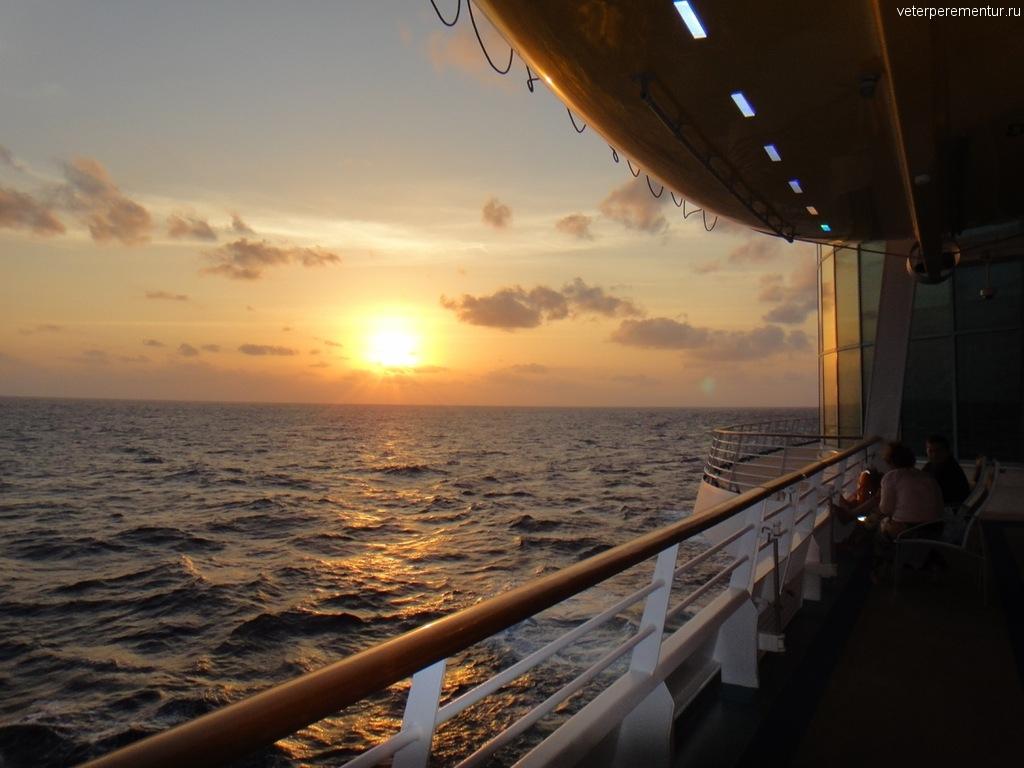 Закат в море, Карибы