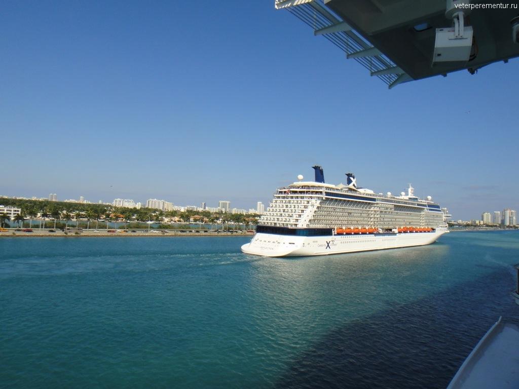 Отплытие кораблей из порта Майами