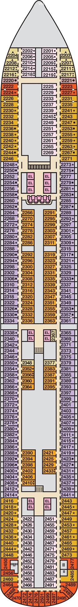 Carnival Breeze план палуб
