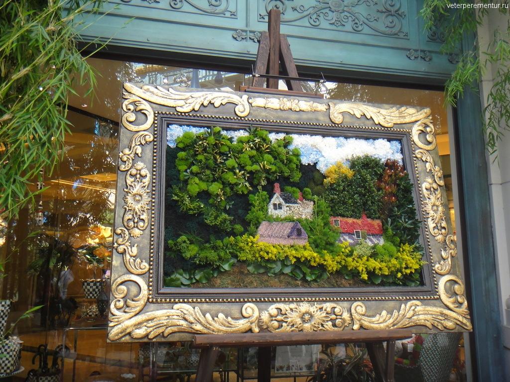 "Картина из цветов в отеле ""Беладжио"" Лас Вегас"