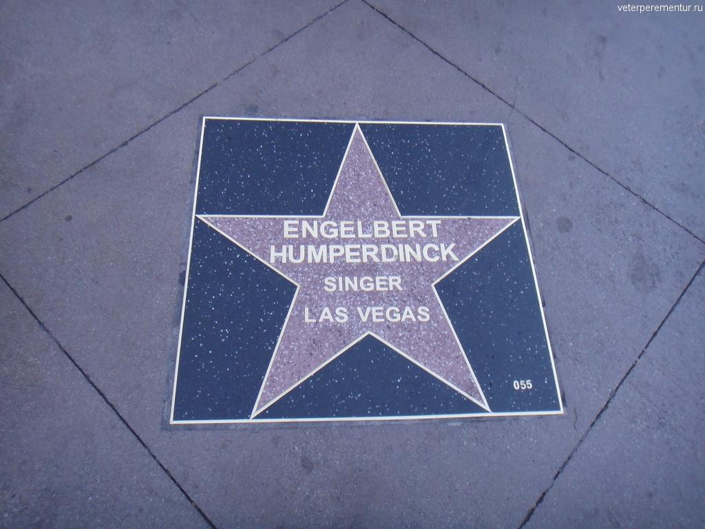 Звезда на аллее звезд в Лос Анджелесе