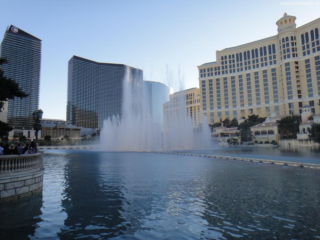 Шоу фонтанов, отель Беладжио, Лас Вегас