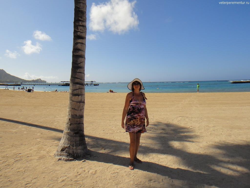 Пляж в Гонолулу, Гавайи