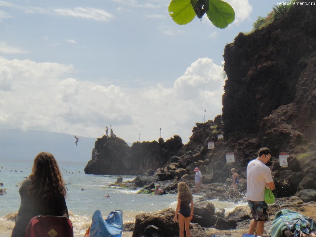 Прыжки со скалы в море, Мауи
