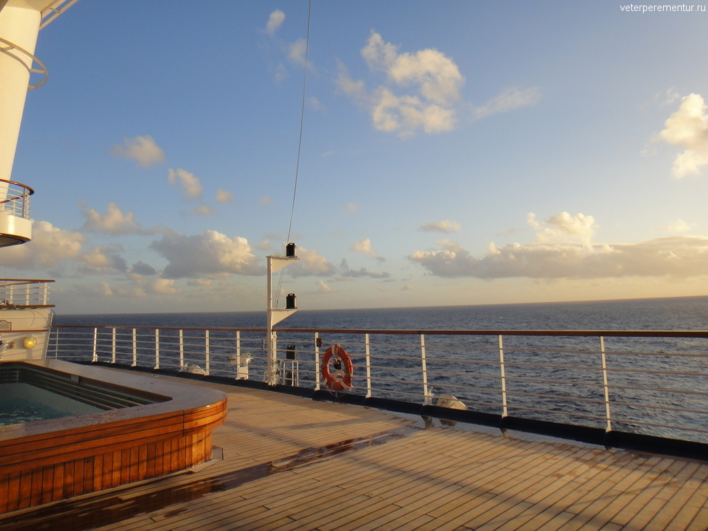 Круиз на Гавайи, день в море