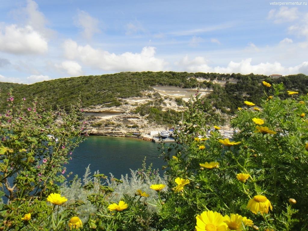Виды на бухту в Бонифаччо