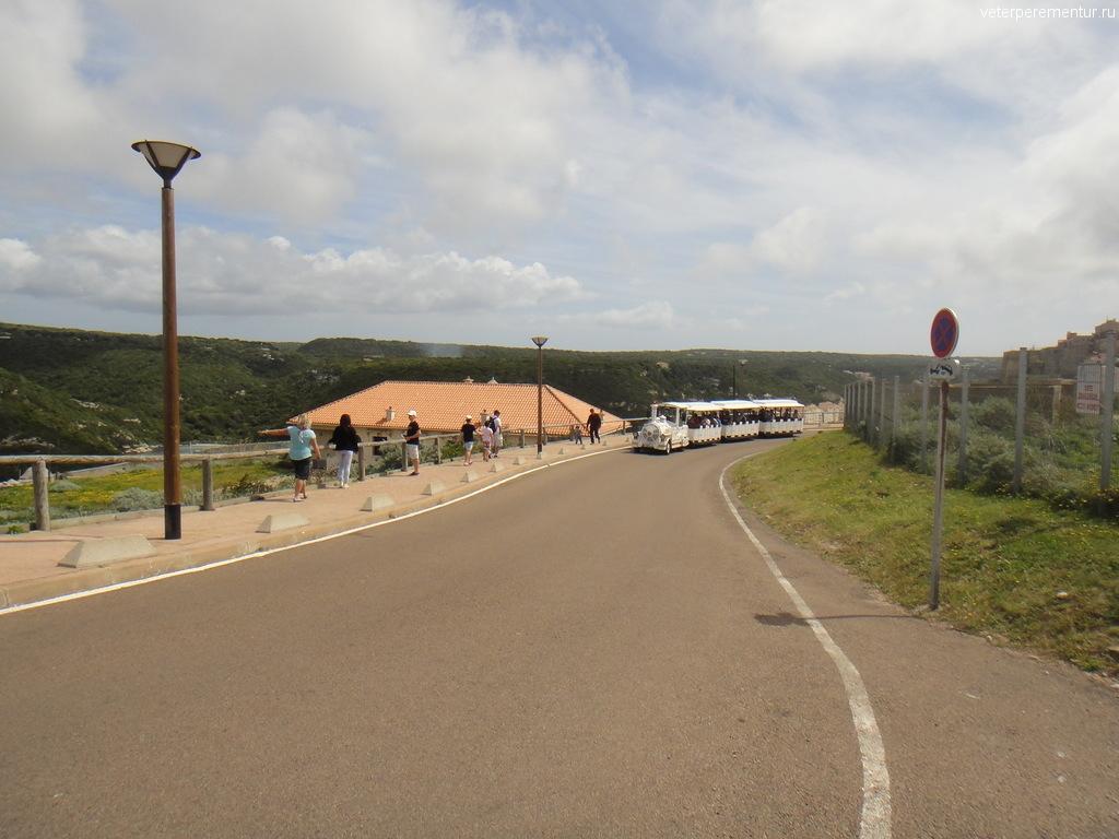 Туристический паровозик, Бонифаччо, Корсика