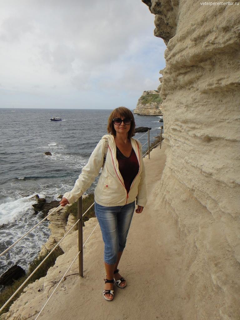 Дорожка под Арагонской лестницей, Бонифаччо, Корсика