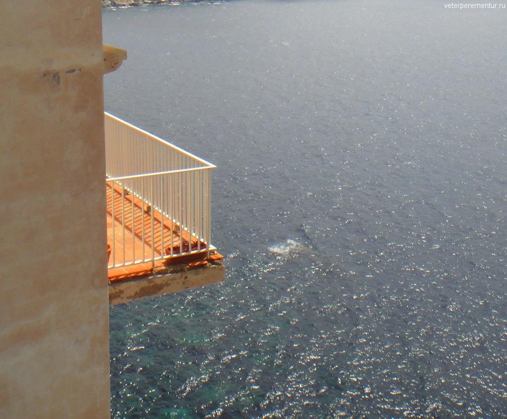 Балкон над морем, Бонифаччо, Корсика