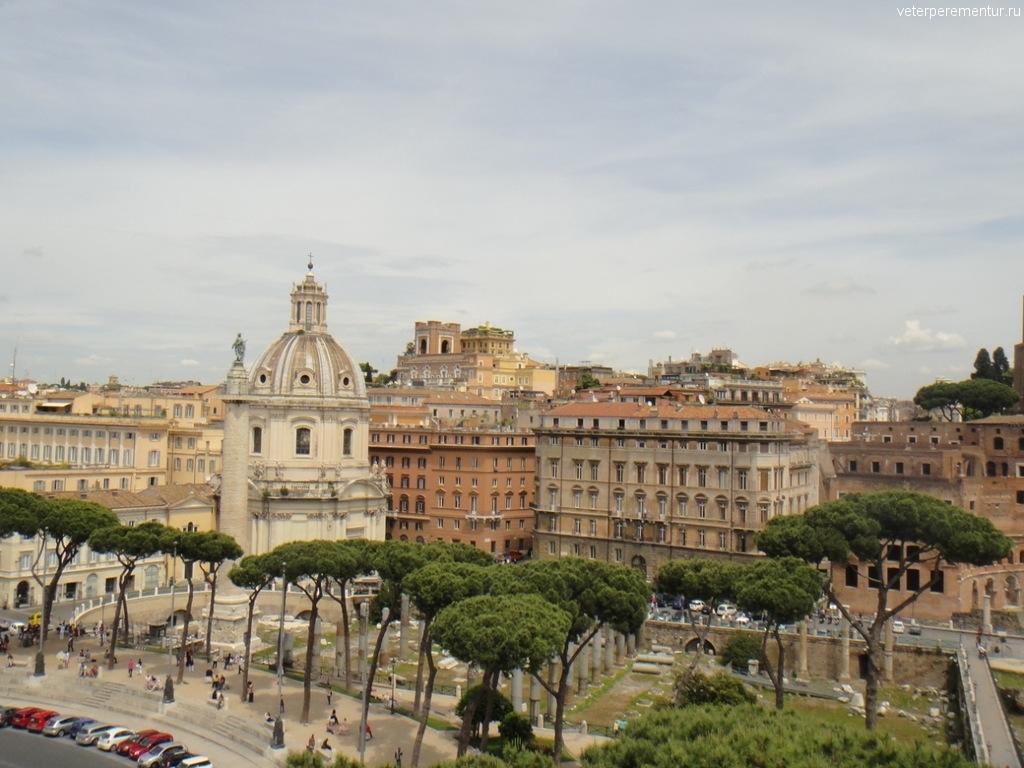 Виды со смотровой площадке памятника Виктору Эммануилу II, Рим