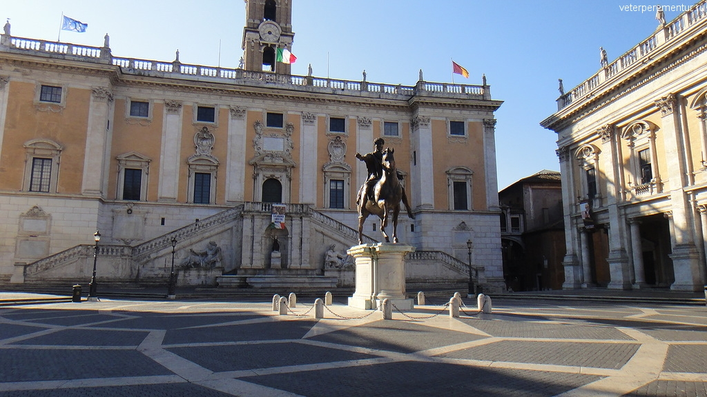 Памятник императору Марку Аврелию, Рим