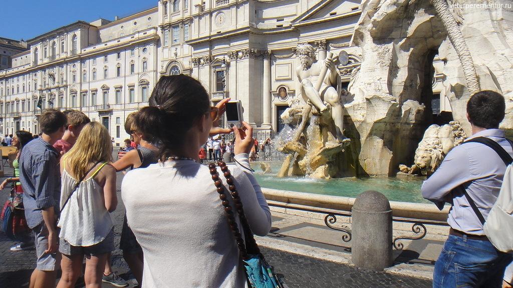 фонтан на площади Навона