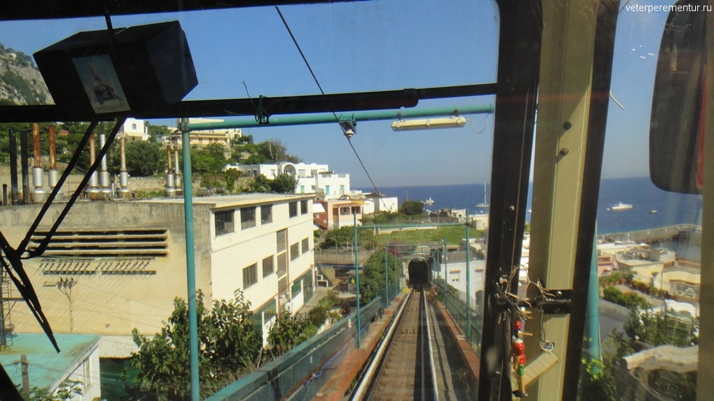 Виды из фуникулера на Капри