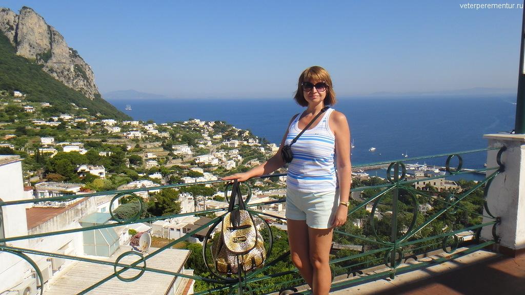 Виды Капри с обзорной площадки