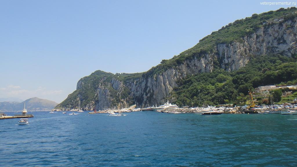 Капри, вид с моря