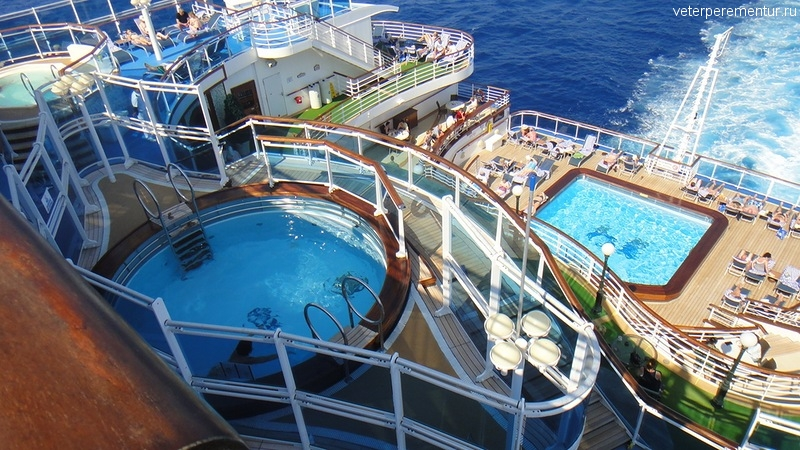 бассейны на Ruby Princess