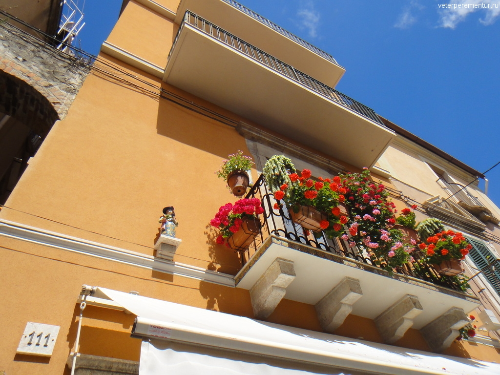 балкон, Таормина, Сицилия