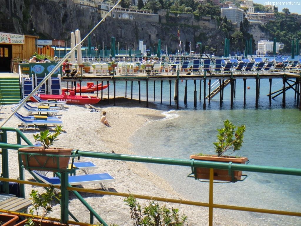 пляж в Сорренто