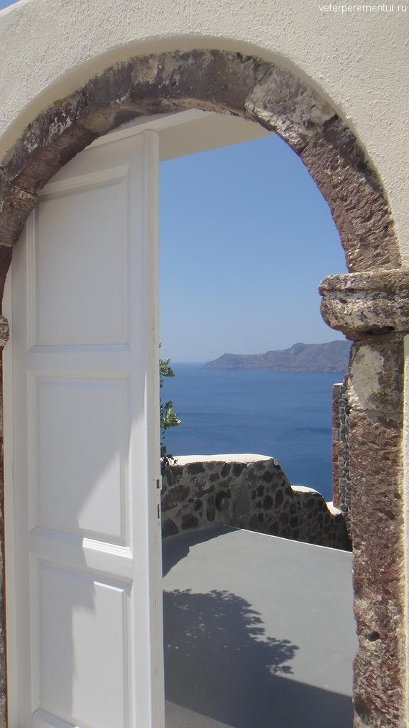 Санторини, двери в Ойе