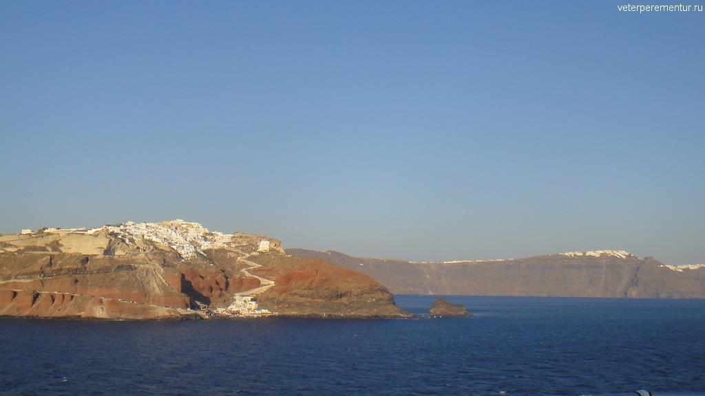 Санторини, вид с моря