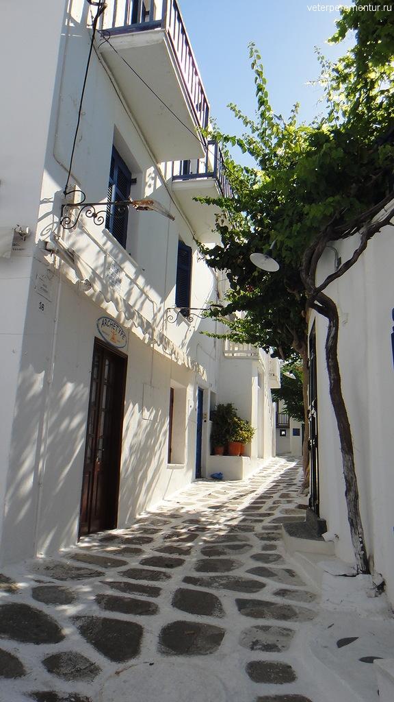 Тротуары на Миконосе