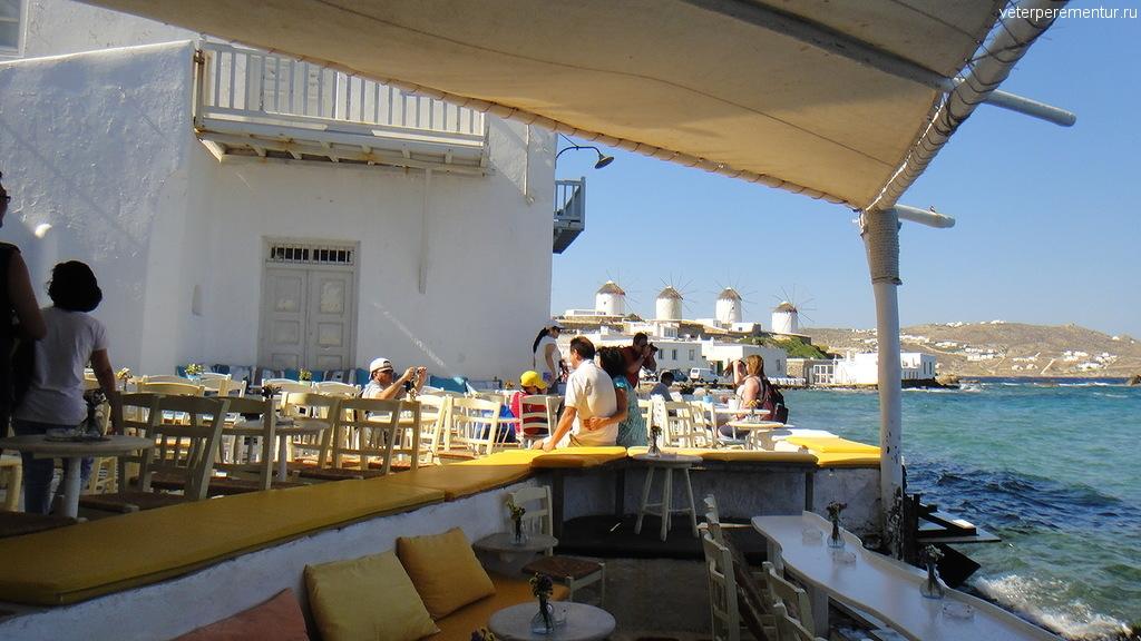 Ресторан у моря, Миконос