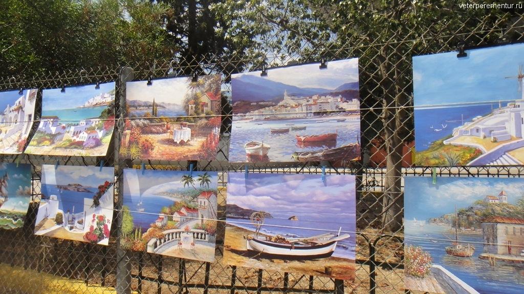 картины уличных художников, Пирей, Греция