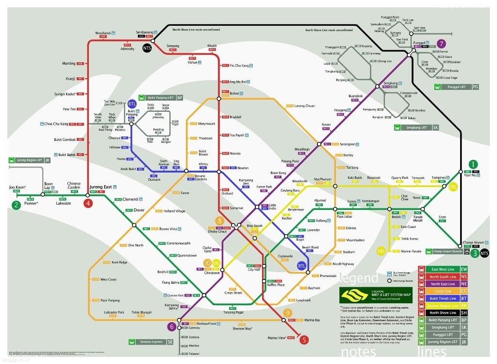 Ккарта метро Сингапура
