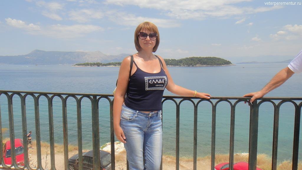 Вид на острова рядом с Корфу