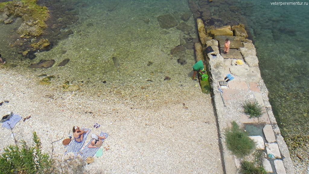 пляж в Керкире, Корфу