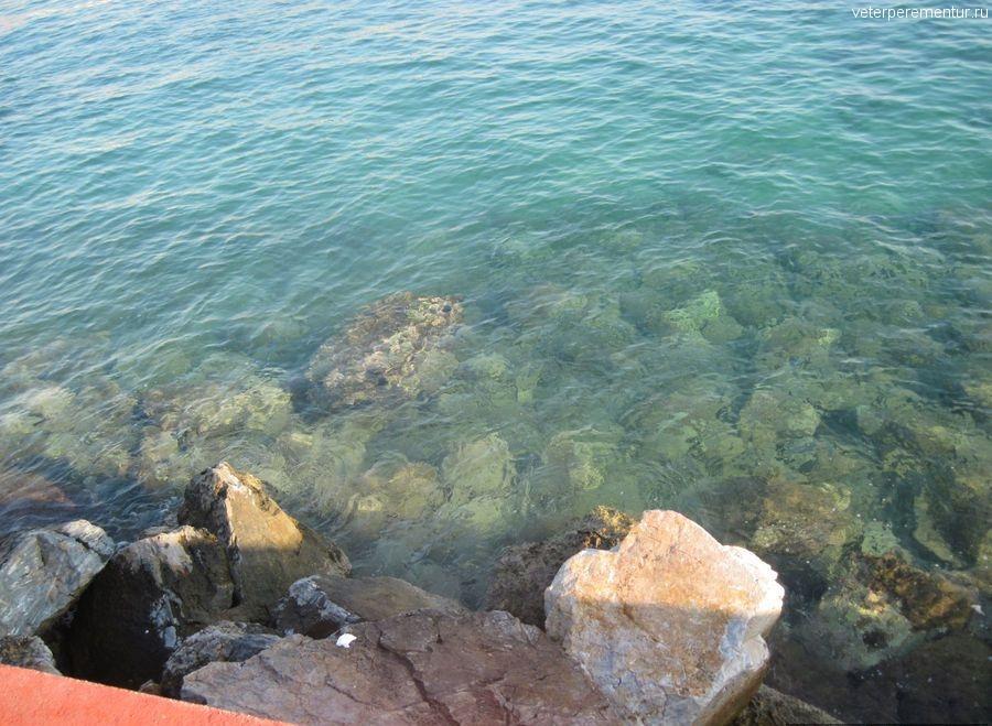 Прозрачное море у берега, Кушадасы