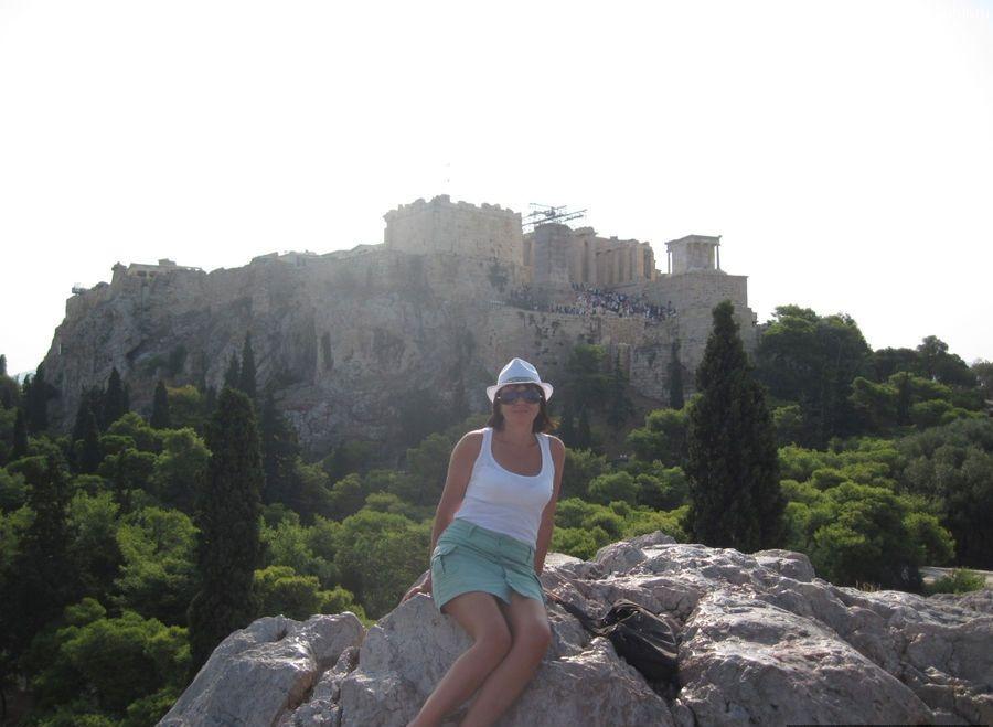Вид с Ареопага на Акрополь, Афины