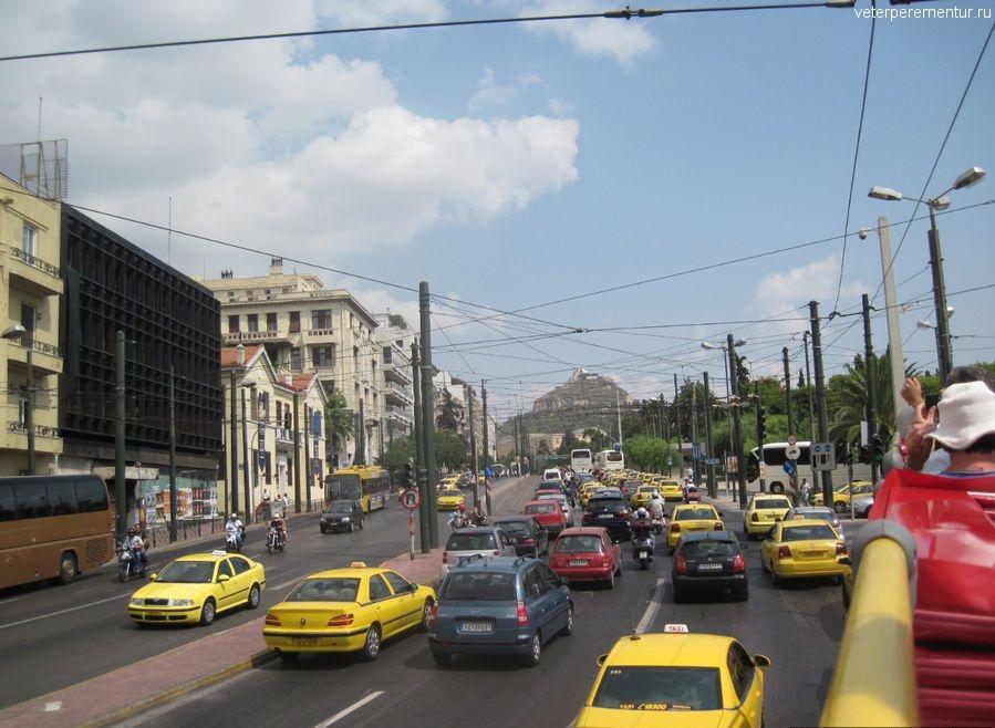 Вид с туристического автобуса, Афины