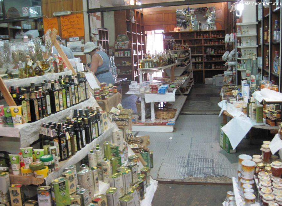 Продукты на крытом рынке, Ханья, Крит
