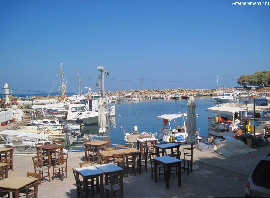 Ханья, Крит, ресторан у моря