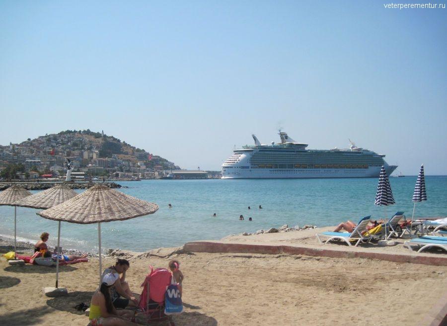 Пляж, Кушадасы, Турция