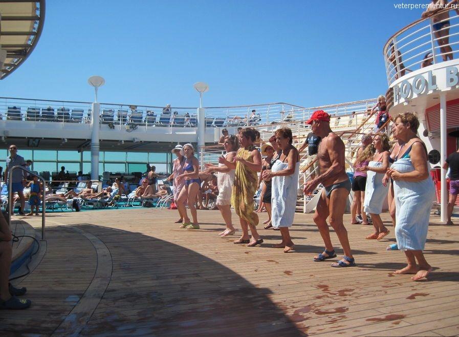 Уроки танцев на на на корабле Navigator of the Seas