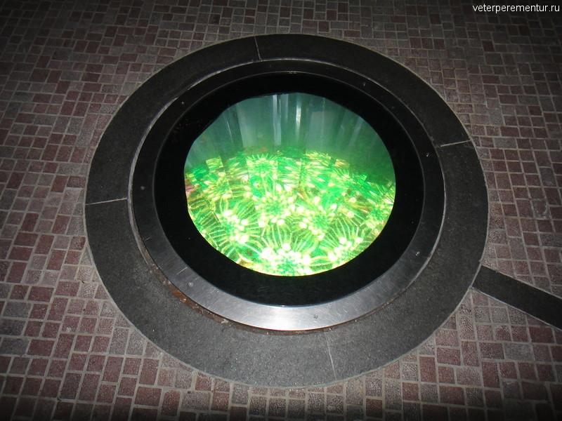 Калейдоскоп в полу, Flower Dome, Сингапур