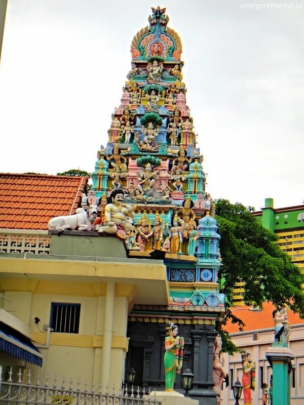Храм в Чайнатауне, Сингапур