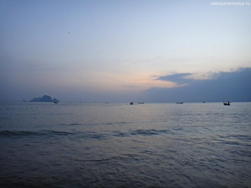 Вечер у моря, Краби, Ао Нанг, Таиланд