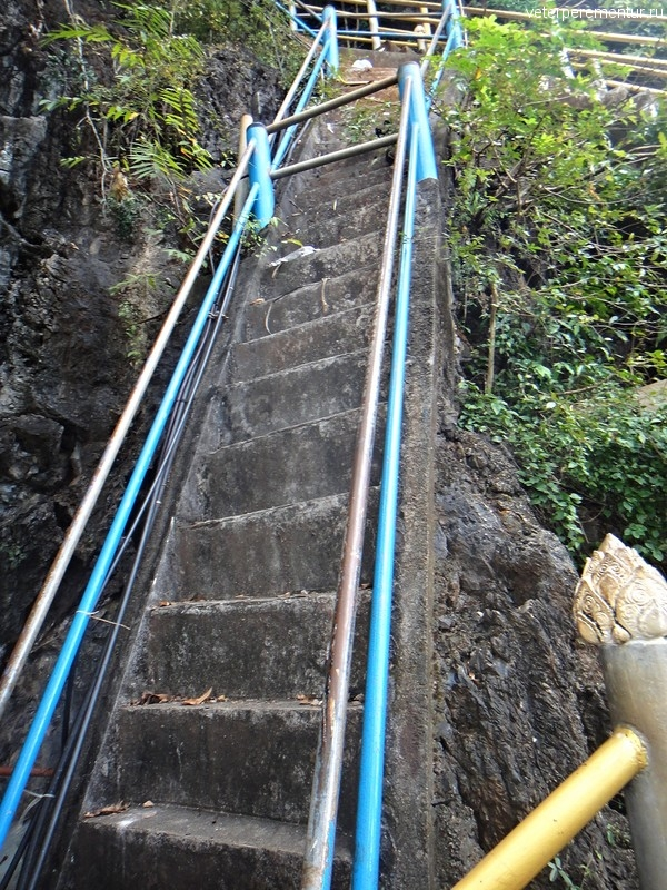 Лестница на вершину горы рядом с Храмом Тигра