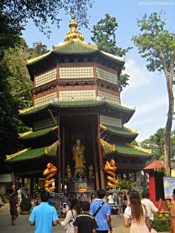Пагода, Пещера Тигра (Tiger Cave Temple) или Храм Тигра (Wat Tham Suea), Таиланд, Краби