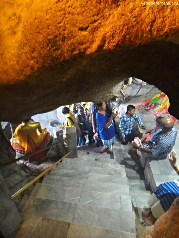 Лестница, пещера Тигра (Tiger Cave Temple) или Храм Тигра (Wat Tham Suea), Таиланд, Краби