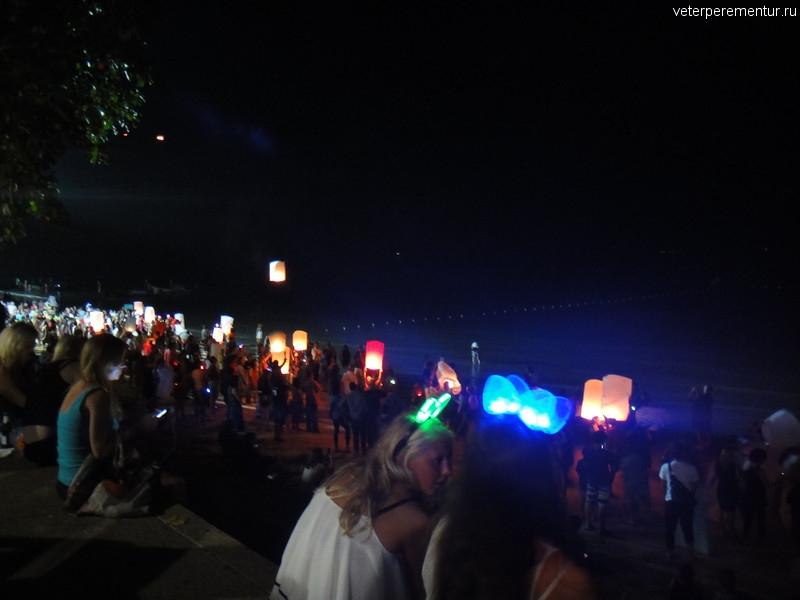 Новогодняя ночь на пляже в Ао Нанг