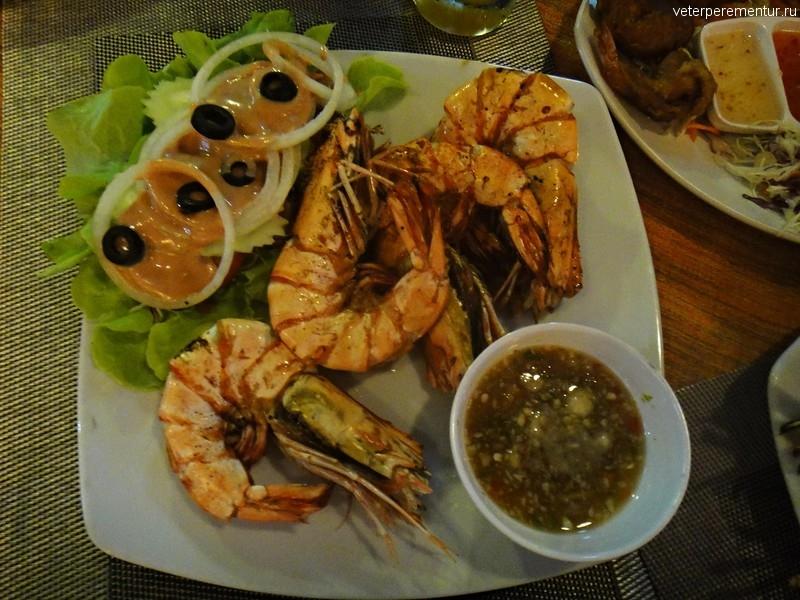 Новогодний ужин в Ао Нанге, лобстер и королевские креветки