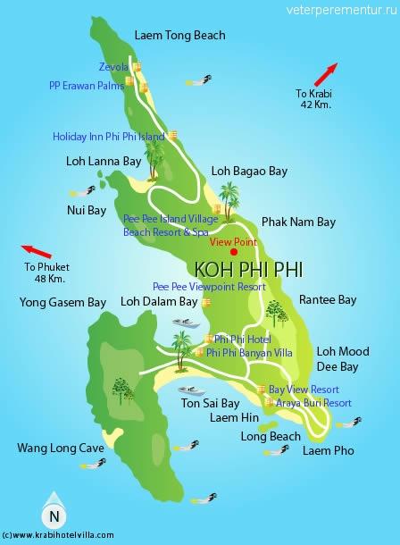 Карта phi phi don