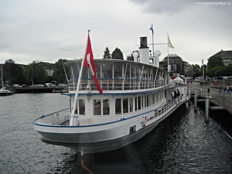 Корабль на Цюрихском озере, Швейцария