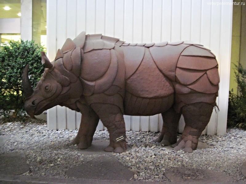Носорог на улице в Цюрихе, Швейцария
