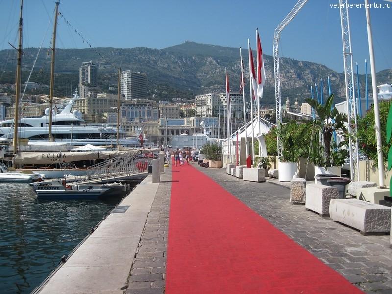 Красная дорожка в порту Монако