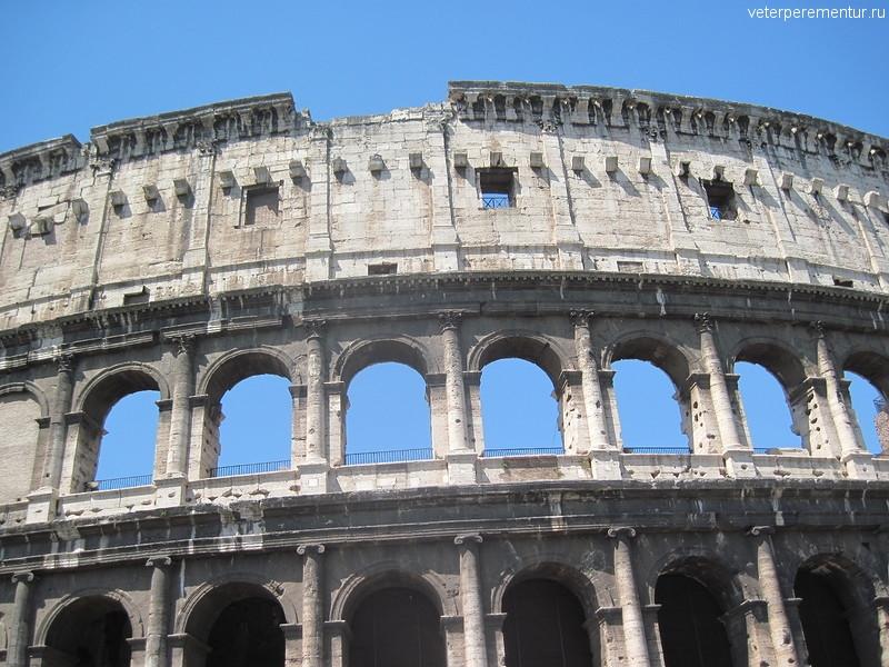 Поездка по Риму на туристическом автобусе, Колизей